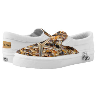 Life's a Beach Let's Play Seashells & Starfish Fun Slip-On Sneakers