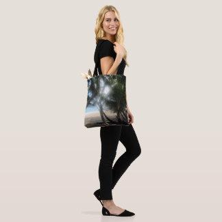 """Life's a Beach"" Tropical Print Tote Bag"