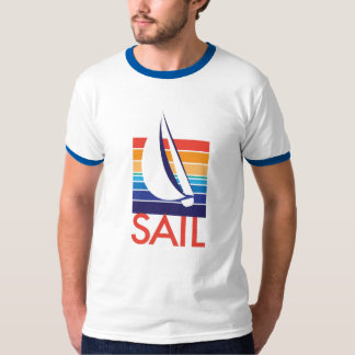Life's a Breeze®_Boat in Color Square T-Shirt