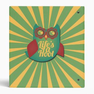 Life's a Hoot owl Binder