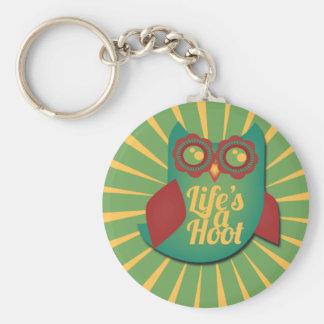 Life's a Hoot owl Cute Animal Keychain