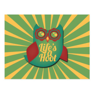 Life's a Hoot owl Postcard