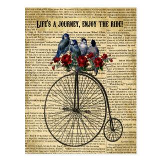Life's a Journey Enjoy the Ride postcard