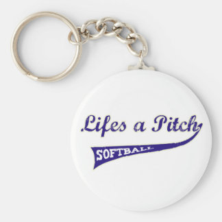 Lifes a Pitch! Basic Round Button Keychain