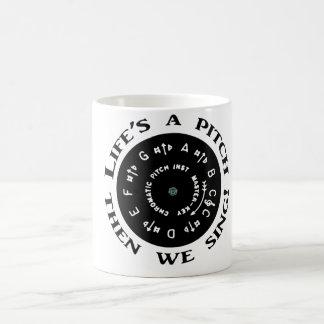 Life's a Pitch Coffee Mug