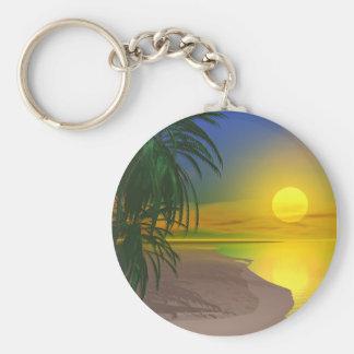 Life's a Sunny Beach Keychain