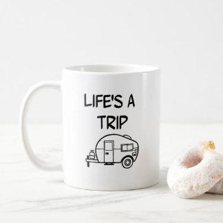 Life's a Trip Camper Coffee Mug Nomad Camping RV
