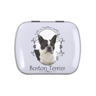 Life's Better Boston Terrier Candy Tin
