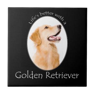 Lifes Better Golden Tile/Coaster Ceramic Tiles
