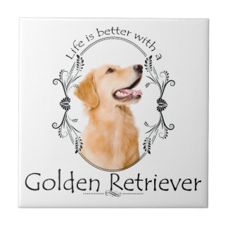 Lifes Better Golden Tile/Coaster Tile