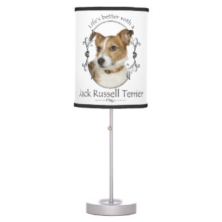 Life's Better Jack Russell Table Lamp