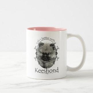 Life's Better Keeshond Mug