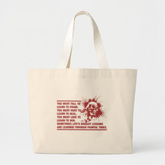 Lifes Biggest Lessons Are Learned Through Pain Large Tote Bag