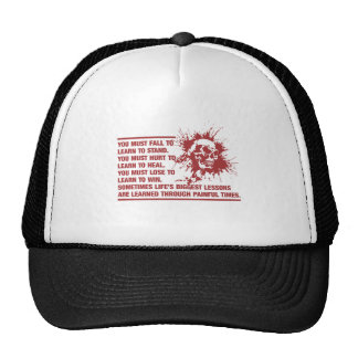 Lifes Biggest Lessons Are Learned Through Pain Trucker Hat