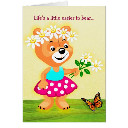 Life's Easier to Bear Friendship Greeting Card
