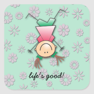 life's good square sticker