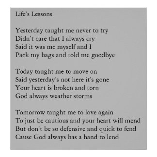 Life's Lessons Poster