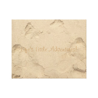 """""""Life's Little Adventures"""" foot prints in the sand"""
