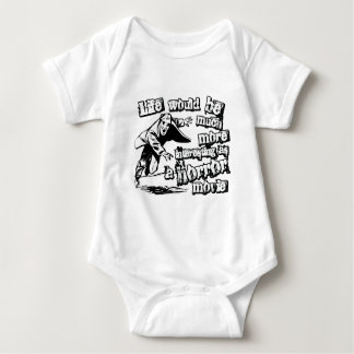 Life's more Interesting as a Horror Movie Baby Bodysuit