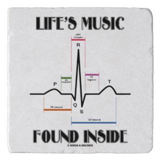 Life's Music Found Inside ECG Electrocardiogram Trivet