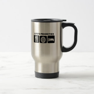 Life's priorities, Darts Travel Mug