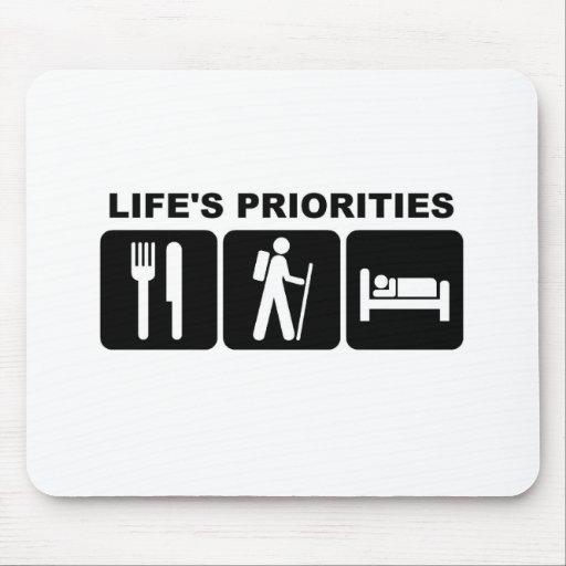 Life's priorities, hiking mousepad