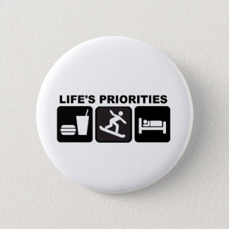 Life's priorities, Snowboarding 2 Inch Round Button