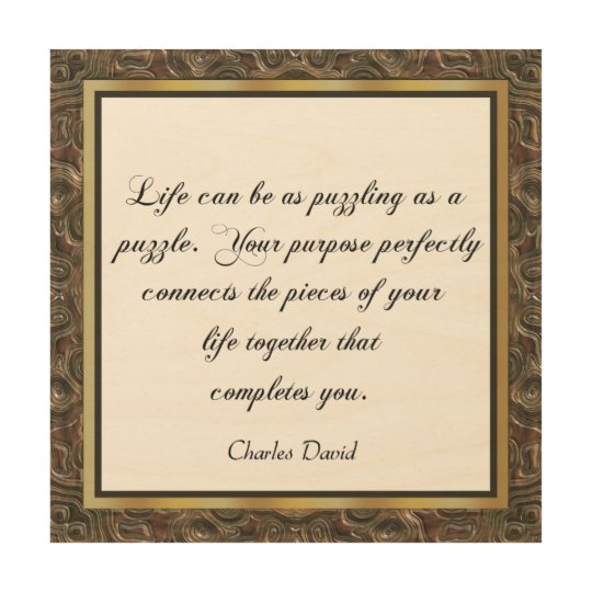 Life's Puzzle 2 Wood Wall Decor