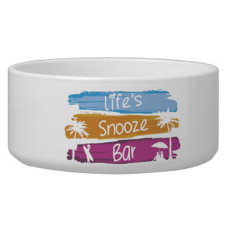 Life's Snooze Bar Heart Pet Bowl