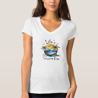Life's Snooze Bar Women's V-Neck T-Shirt