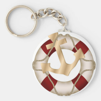 Lifesaver and Anchor Keychain