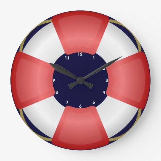 lifesaver lifebuoy nautical clock