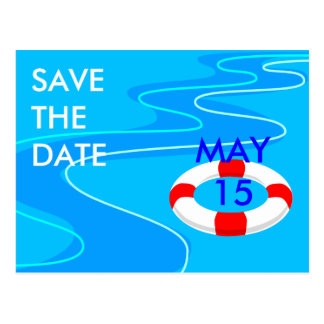 Lifesaver Save The Date Postcard