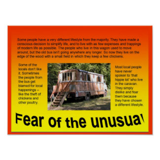 Lifeskills, Citizenship, Fear of the unusual Poster
