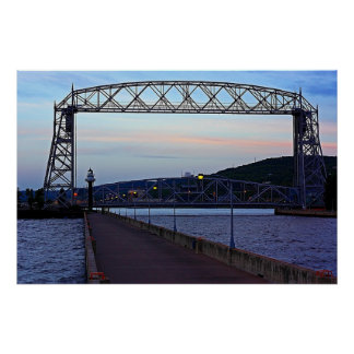 Lift bridge in the Morning Poster