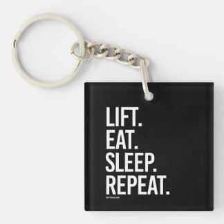 Lift Eat Sleep Repeat -   Training Fitness -.png Single-Sided Square Acrylic Keychain