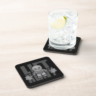 Lift Heavy - Anime Kawaii Workout Motivational Coaster