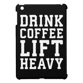 Lift Heavy, Drink Coffee - Funny Gym Motivational Cover For The iPad Mini