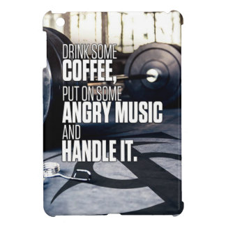 Lift Heavy Inspiration - Coffee and Angry Music Case For The iPad Mini