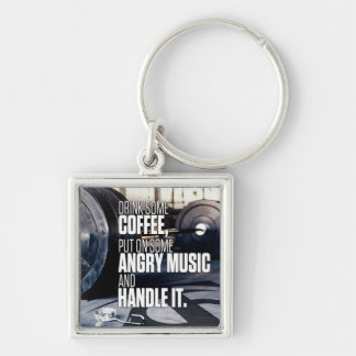 Lift Heavy Inspiration - Coffee and Angry Music Keychain