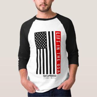 LIFT IN THE USA- unisex 3/4 sleeve BASEBALL T T-Shirt