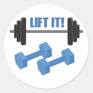 Lift It! Classic Round Sticker