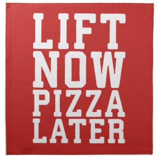 Lift Now, Pizza Later - Funny Novelty Gym Napkin