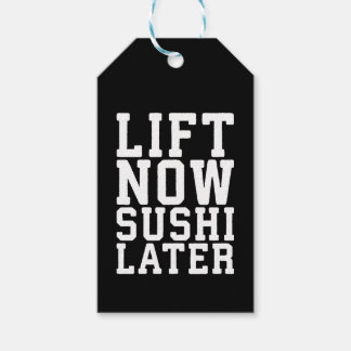 Lift Now, Sushi Later - Carbs - Funny Novelty Gym Gift Tags