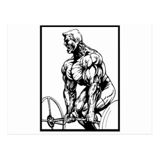 LIFT TIL' YOU PUKE BODYBUILDING LOGO POSTCARD