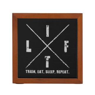 LIFT - Train, Eat, Sleep, Repeat Desk Organizer