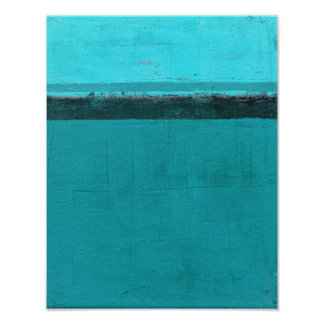 'Lifted' Teal Abstract Art Poster
