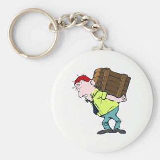 Lifting Basic Round Button Keychain