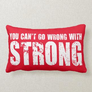 Lifting Gym Motivation - Strong Lumbar Pillow