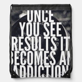 Lifting Motivation - Once You See Results Drawstring Bag